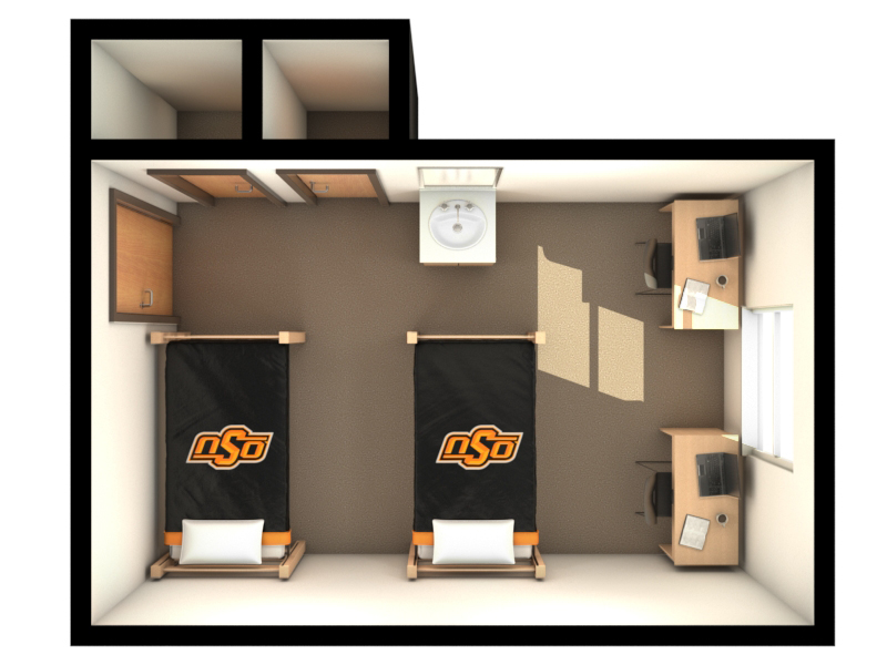 Stout Hall Dimensions (2 bed)